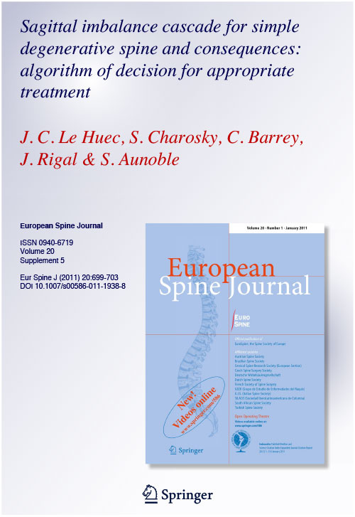 Sagittal imbalance cascade for simple degenerative spine and consequences: algorithm of decision for appropriate treatment