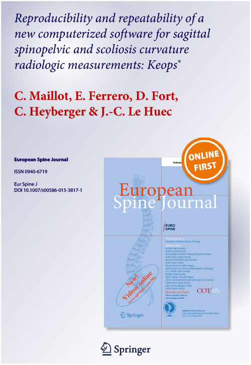 Reproducibility and repeatability of a new computerized software for sagittal spinopelvic and scoliosis curvature radiologic measurements: Keops®
